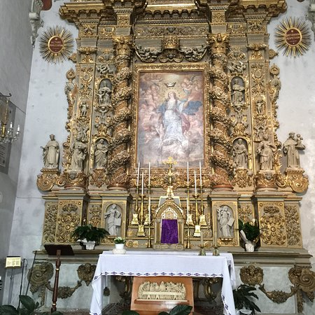 Martano, Italie : Baroque altarpiece of Chiesa dell'Immacolata