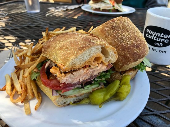 Counter Culture: Salmon Sandwich with fries