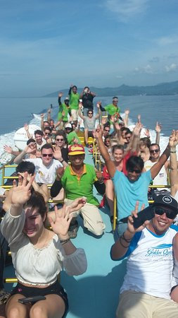 Острова Гили, Индонезия: please enjoy your trip to Gili's Island with goldenqueen fastboat,there is the aluminium boat