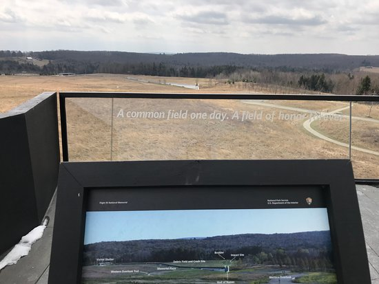 Stoystown, PA: Looking out over the flight path and debris field