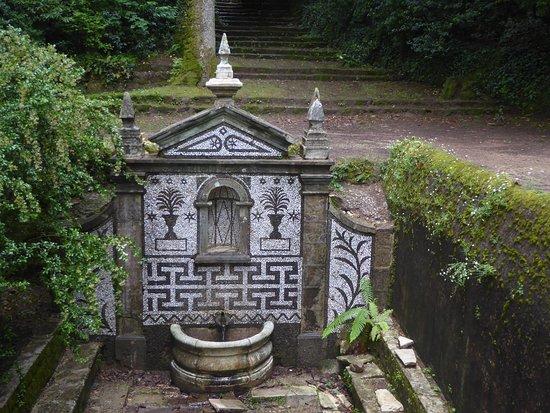 """Bussaco, البرتغال: Die Quelle """"Fonte Fria""""."""