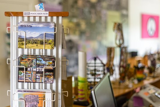 Local postcards available at Nimbin Visitor Information Centre