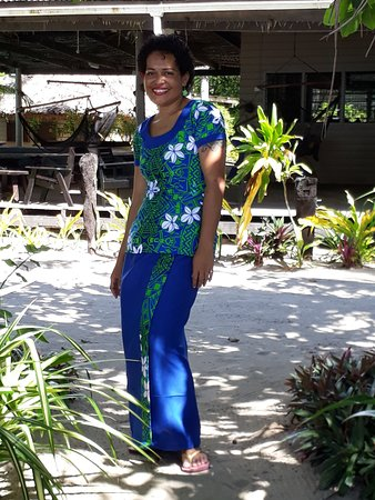 Likuri Island, Fiji: Meet Illi our front office team and our new uniforms.