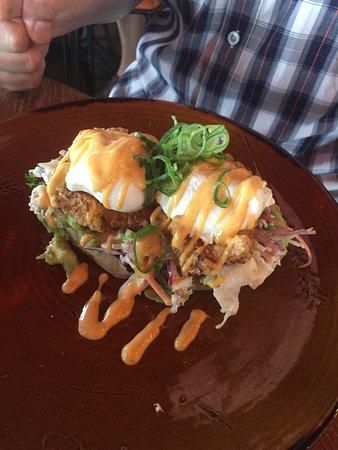 Fried Chicken Eggs Benedict....amazingl
