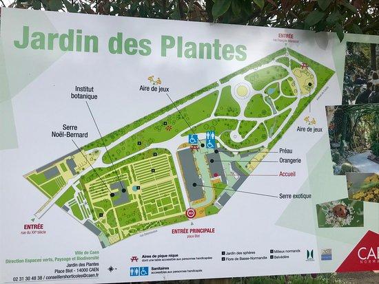 Map Picture Of Jardin Des Plantes Caen Tripadvisor