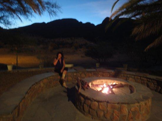 Karibib, Namibië: Abends gab es immer ein romantisches Feuer