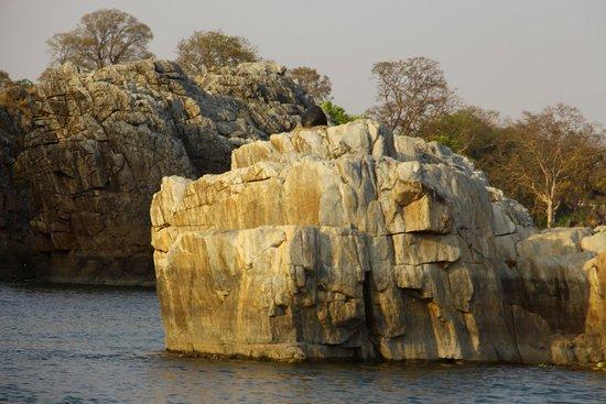 Bhedaghat, Indie: Marble Formations - boating
