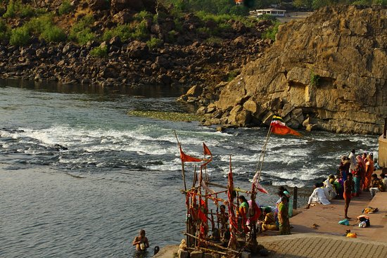 Bhedaghat, India: Boating Ghat Area