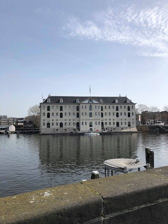 Het Scheepvaartmuseum| The National Maritime Museum: the outside of the museum. beautiful building