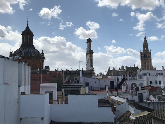 Hotel Amadeus: View from roof terrace