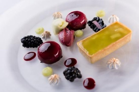 Olivier's Restaurant: Duo of Apple Tart and Blackcurrant Mousse