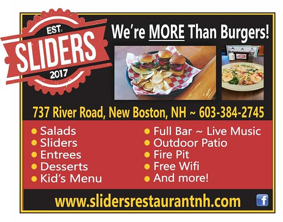 New Boston, NH: We are more than burgers and sliders