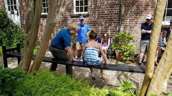 Charleston Footprints Walking Tours: Charleston Footprints Tour -- Russell House joggling board