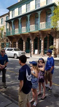 Charleston Footprints Walking Tours: Charleston Footprints Tour -- Michael Trouche engaging my kids