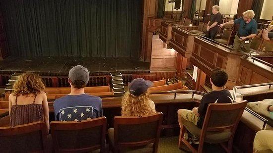 Charleston Footprints Walking Tours: Charleston Footprints Tour -- inside Dock Street Theatre
