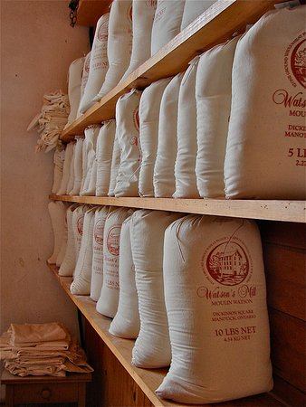 We sell our whole wheat stone ground flour which is produced using the original 1860's equipment