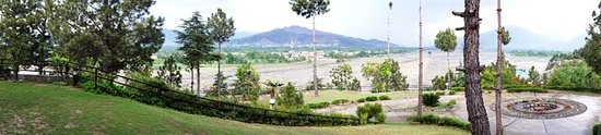 Saidu, Pakistan: Panoramic View from the front of the hotel