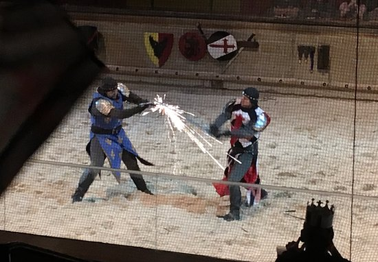 Medieval Times: Knights perform very realistic fights