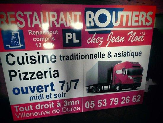 Villeneuve-de-Duras, Frankrike: chez j noel 317 route d angouleme 24650 chancelade tel0631478971