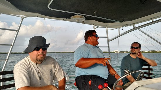 George Town, Grand Cayman: Captain Jon and the boys