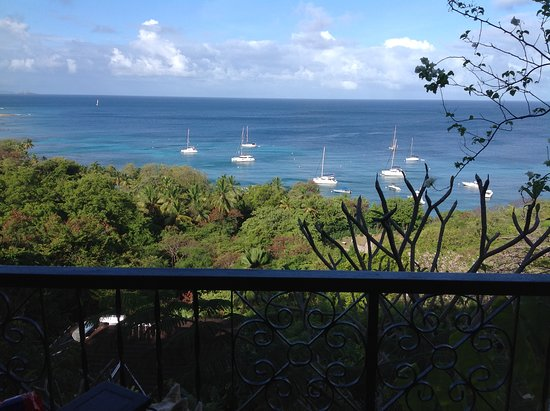Mustique: View from balcony.