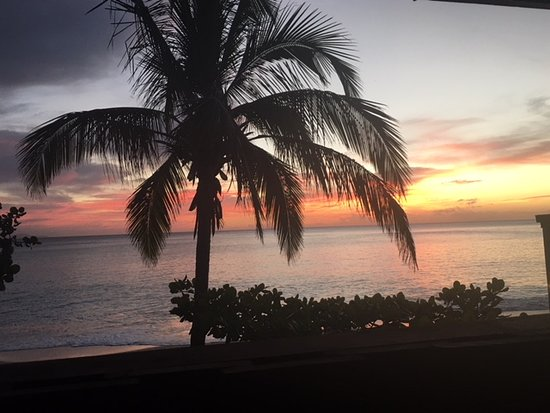 Turners Beach, Antigua: View from Room 22 at Sunset
