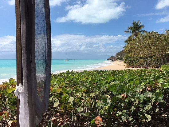 Turners Beach, Antigua : View to the right side of beach from dining room