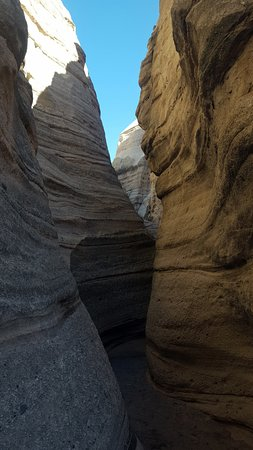 Slot Canyon, one of several along the way to the top of the Mesa