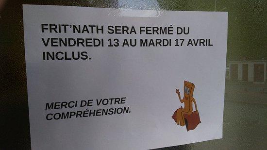 Le Mayet-de-Montagne, France: Fermeture exceptionnelle, du vendredi 13 au mardi 17 Avril inclus.