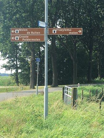 Slochteren, The Netherlands: the three windmills