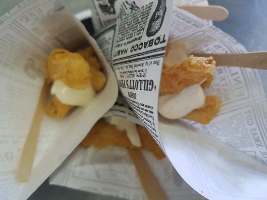 La Matanza de Acentejo, Spain: Calamares rebozados con harina de garbanzo !! Sin gluten!!