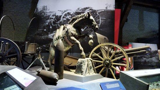 Πολεμικό Μουσείο Φλάνδρας: One of the displays in the museum