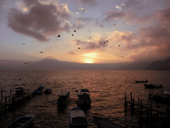 Sunset at Lake Atitlan - NO. FILTER.