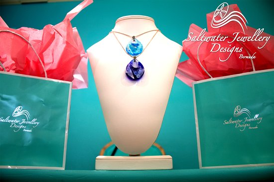 St. George, Bermuda: Saltwater Design featuring our Mermaid Teardrop Pendent