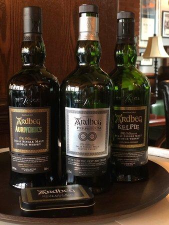 The Malt Room for the world's best whiskies.