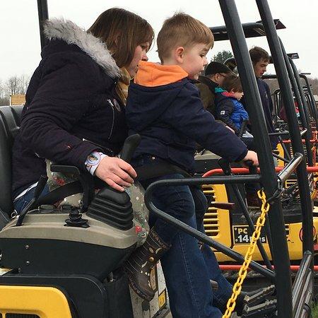 Muddy Family Fun at Diggerland