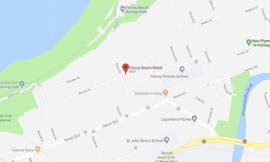 Fitzroy Beach Motel: Map