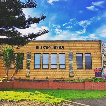 Port Fairy, Australia: Blarney Books & Art, now with book stacks by artist Jodi Wiley!