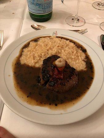 Chez Donati: Steak with sauce and risotto