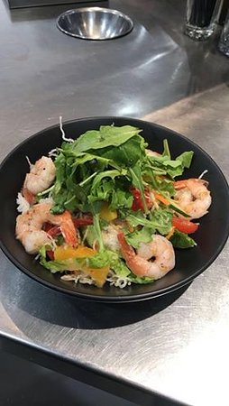 Pittsworth, Australia: Lunch menu- Prawn, mango & Vermicelli Noodle Salad.