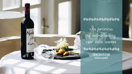Εστιατόριο Μέδουσα: Refreshed menu, following the Greek tradition, salads, pasta,seafood, meat and wine!