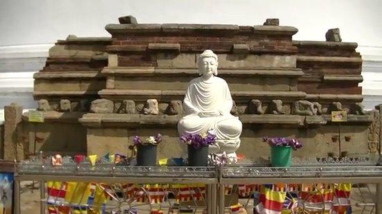 """Mirisaveti Stupa: Mirisavetiya Stupa / """" Lord Buddha Statue"""