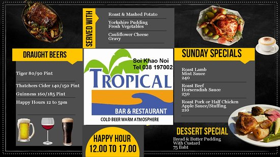 Nong Prue, Thailand: Sunday Lunch, please book on 038197002