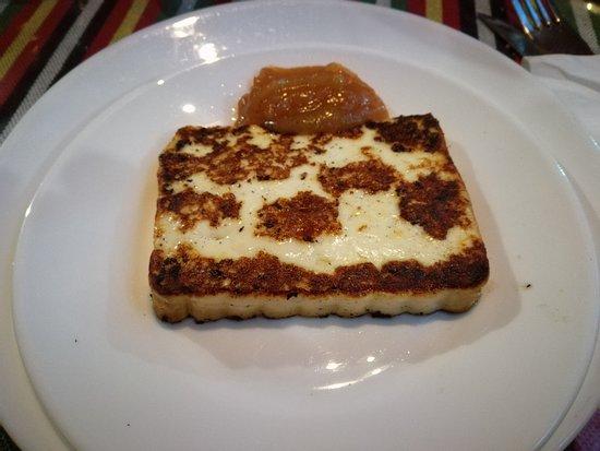 Restaurante El Cordero: Queso a la plancha