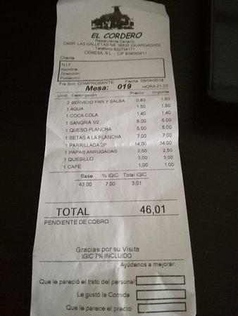 Restaurante El Cordero: conto