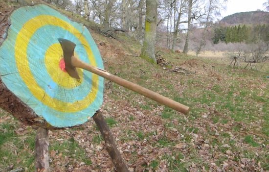 Aviemore, UK: Get to throw the double headed viking axe