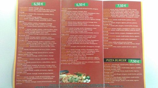 Belleville, France: Cartes pizza