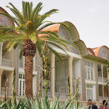 Well-maintained botanical garden