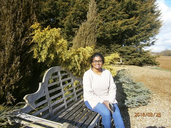 Laxton, UK: Our daughter enjoying the environment