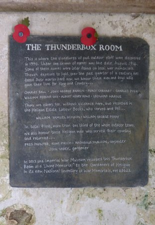 The Lost Gardens of Heligan: The self explanatory Thunderbox Room